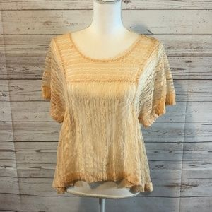 Free People lace baby doll top
